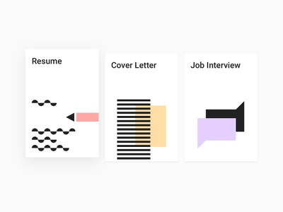 Guidebook cards shadow book interview job cover letter resume guidebook