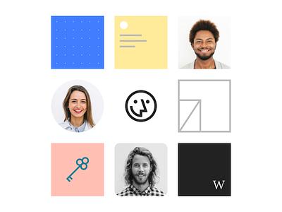 Material black logo icon resume people graphics branding material wozber