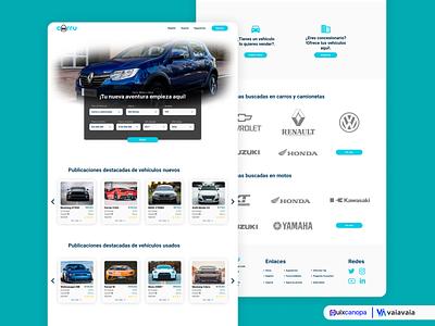 Landing Page Exploration - Carru Startup - Search Landing ux web design ui