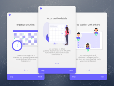 Onboarding Screens Calendar App Exploration