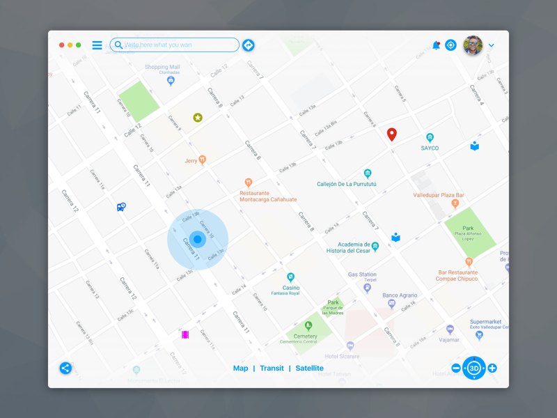 Little Redesign Exploration - macOS App for Maps inspiration web social grey dashboard challenge dayliui profile user design ui ux