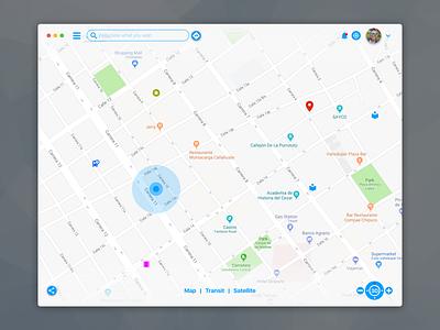 Little Redesign Exploration - macOS App for Maps inspiration web social grey dashboard challenge dayliui profile user design ui ux