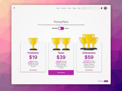 Landing Page - Pricing Table inspiration web social grey dashboard challenge dayliui profile user design ui ux