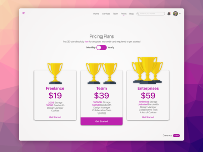 Landing Page - Pricing Table