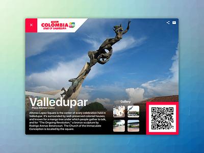 Colombia.CO - Digital Postcard Project interface web blue design chart network dribbble social dashboard ui ux