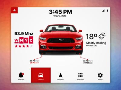Car Dashboard - Exploration UI