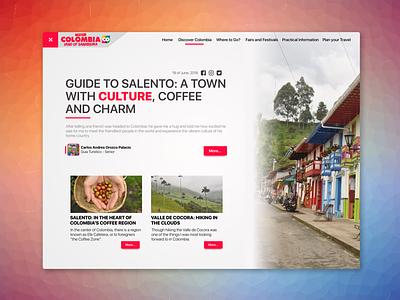 Blog Post Design Page - Exploration blog inspiration web social red designer challenge dayliui user design ui ux