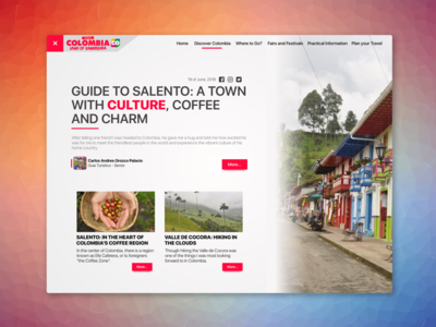 Blog Post Design Page - Exploration