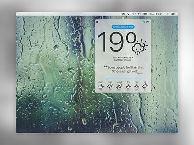 Weather App Exploration  - DailyUi #037 exploration weather challenge dailyui macos app uideisgn ux ui