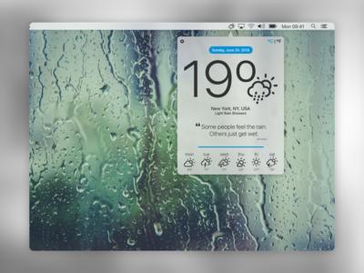 Weather App Exploration  - DailyUi #037