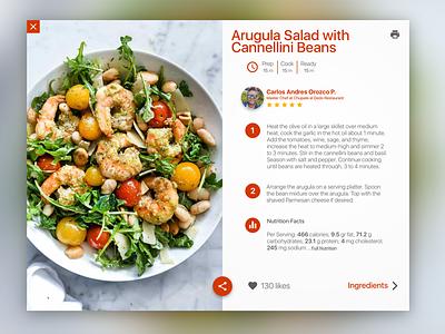 Italian Food Recipe - DailyUI #040 italian recipe ux uideisgn ui macos exploration dailyui challenge app
