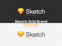 Sketch Grid Brand Wallpaper