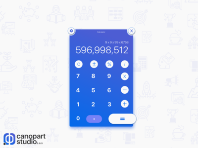 DailyUI Challenge # 004 - Calculator App