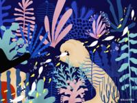The blushing protagonist: Hi~ Little fish~~~