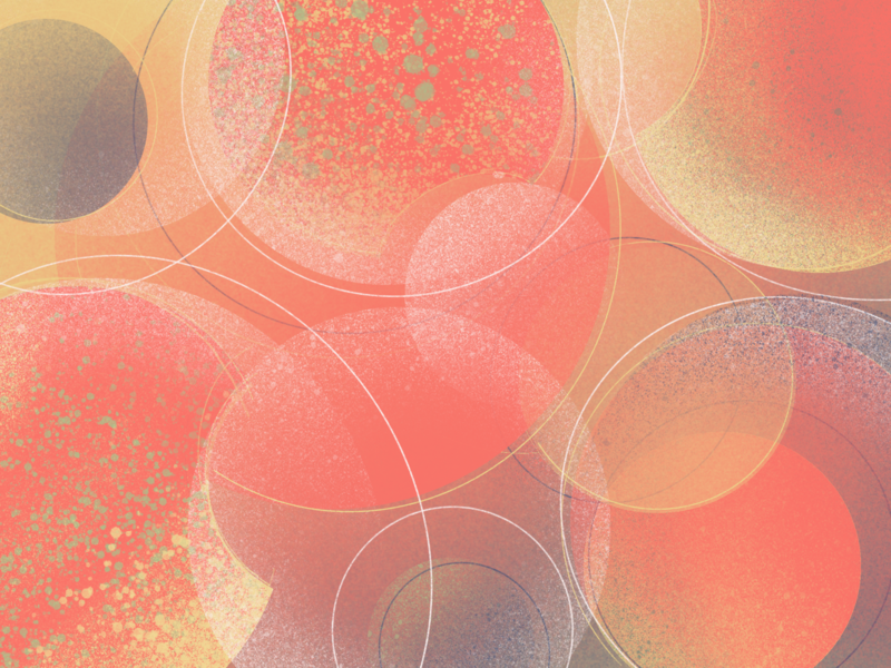 Summer air with the smell of peach soda circle geometry abstract summer color peach illustration