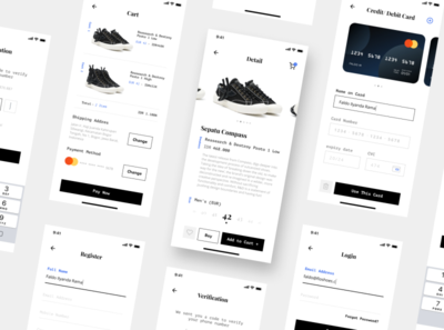 Product UI Kit template free branding animation shop illustraion form login minimalism payment cart ecommerce ui web experience interface design product app mobile
