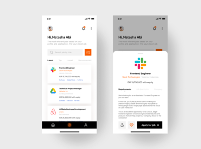 Jobs Mobile Apps logo page detail product form login design web illustraion branding kit ui template free minimalism mobile explore userinterface user jobs