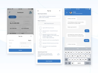 "Provesty topup flow app ""Dribbble invitations 2x"""
