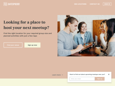 Daily UI - Day 03 Landing Page