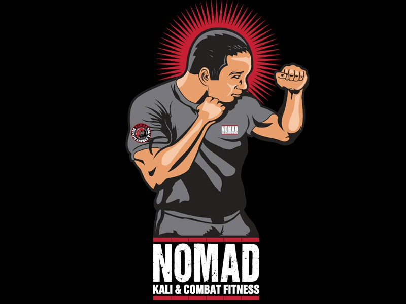 Nomad Kali and Combat Fitness Instructor  vector illustration portrait filipino martial arts boxing fighter fitness illustration fitness kali martial arts illustration martial arts nomad illustration