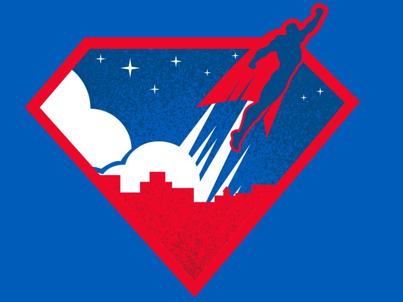 Superhero Shield t-shirt apparel logo design logo minimalism stars comics cloud illustration space texture superhero superman