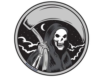 Grim Reaper Circle Dribbble