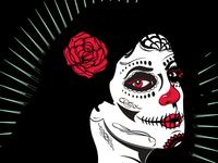Female Day of the Dead Sugar Skull