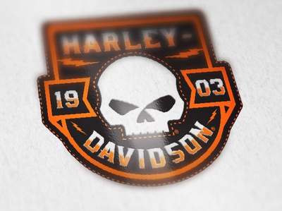 Pocket T-shirt Badge Design harley davidson harley-davidson skull logo apparel design apparel graphics tshirt design lightning logo design badge design skull