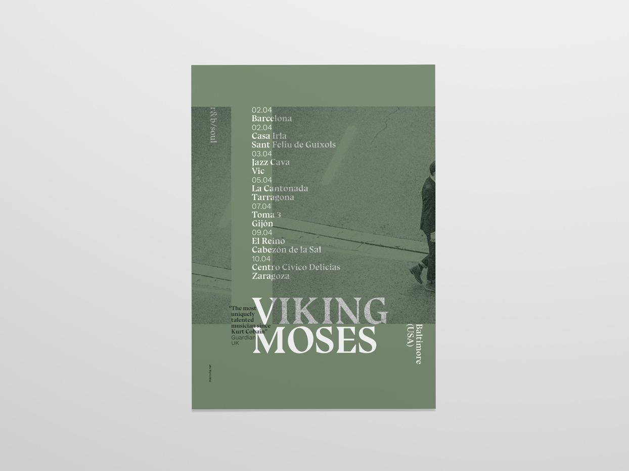 Viking Moses 2017 Spanish Tour music poster cartel gigposters affiche poster design gigposter poster music artwork