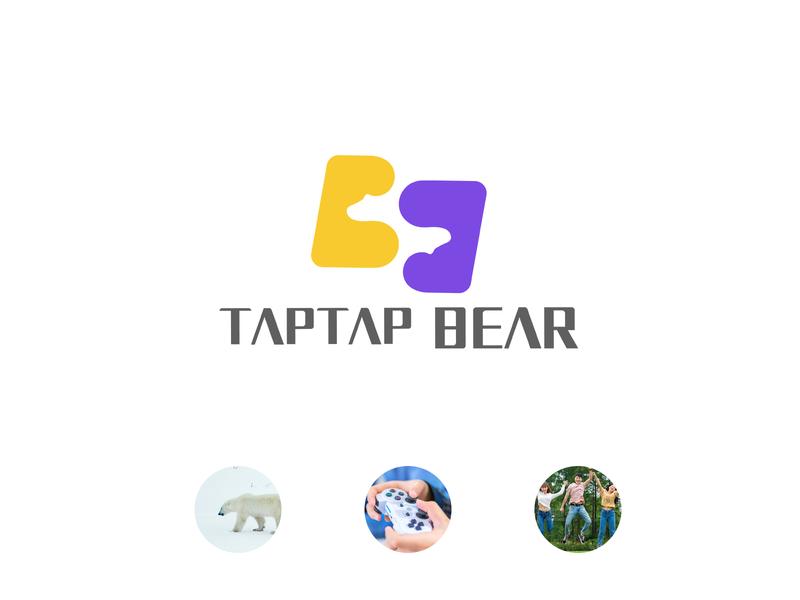 Logo of game company ux typography minimal icon app flat branding