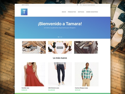 Tamara Theme :: Home web ux user interface ui store shop responsive online mobile ecommerce design awesome