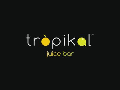 Tropikal Juice Bar fruit fresh juice graphic design logo identity branding