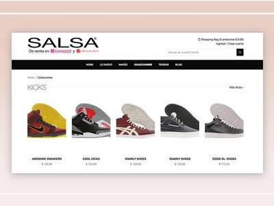 Salsa - Collection View web ux user interface ui store shop responsive online shopify ecommerce design awesome