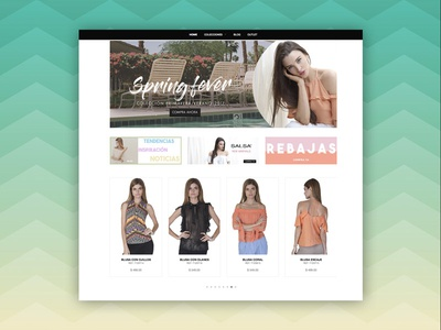 Salsa - Partial Home View web ux user interface ui store shop responsive online shopify ecommerce design awesome