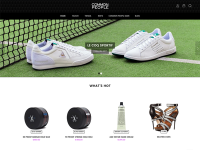 E-Commerce Redesign - Homepage web ux user interface ui store shop responsive online ecommerce design awesome
