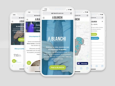 Blanchi - Mobile Views mobile mexico ux ui responsive awesome design