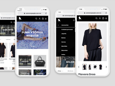 Common People - Mobile View shopify user interface online mobile web store shop mexico ecommerce ux ui responsive awesome design