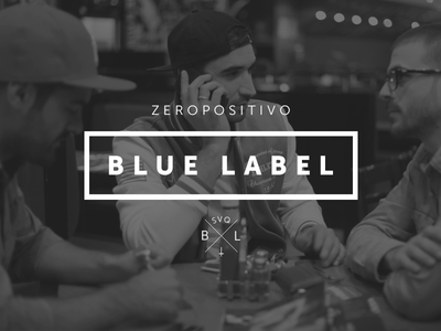 Blue Label typography lettering vintage logo photo sevilla alvaro black branding
