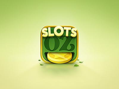 Icon The Wizard of Oz_Slots icon app slots green coin leaf ios gold oz yellow appstore alvaro