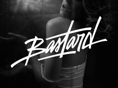 Lettering Bastard lettering typography t-shirt tee brand apparel font bastard wear black urban wear logo