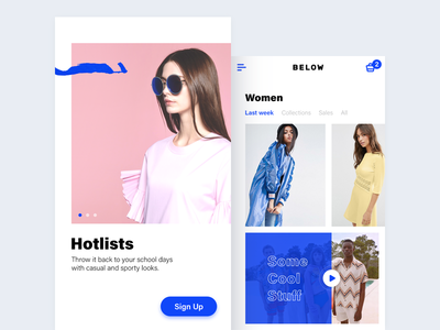 Below App app interface flat minimal shop ios11 iphone ux ui fashion