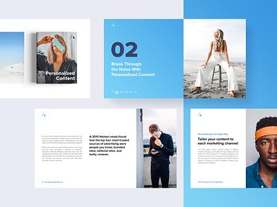 Ebook Personalized Content website ui concept desktop typography template identity branding deck landing page influencer presentation ebook