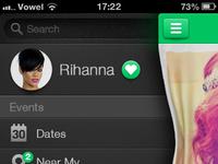 Menu concept app