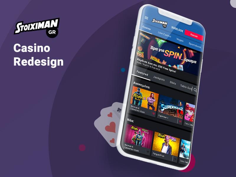 Stoiximan Casino Redesign casino redesign mobile stoiximan