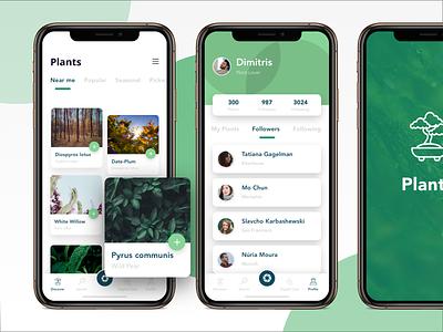 Plants Encyclopedia encyclopedia design sketch app mobile ui plants