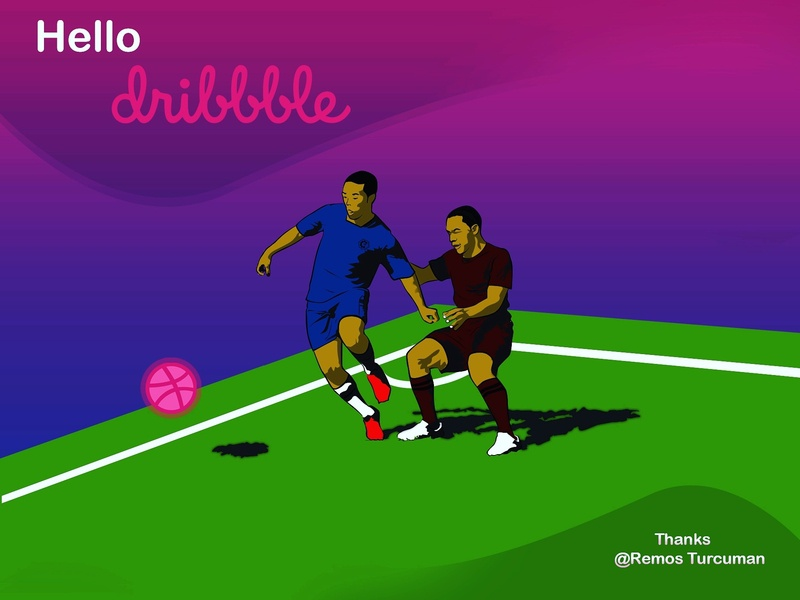 Hello Dribble soccer hello dribble illustration sport debut