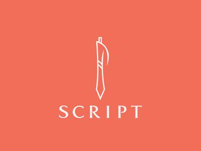 Script pen script mark logo writing