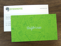 Evernote business cards