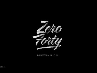 Zero40 logo (Grunge Brush)