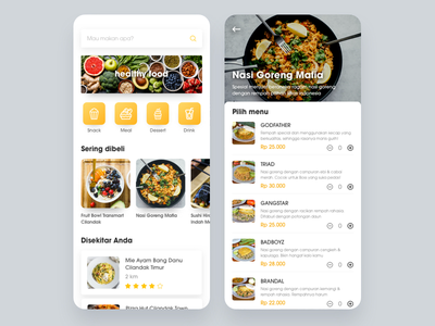 Food Delivery Order indonesia food app food and drink app resto restourant meals mobile drink food  drink food